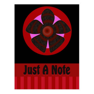 Just a Note flower Postcard