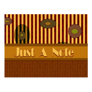 Just A Note Postcard