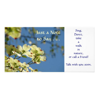 Just a Note to Say... Sing Dance Walk in Nature Photo Card Template