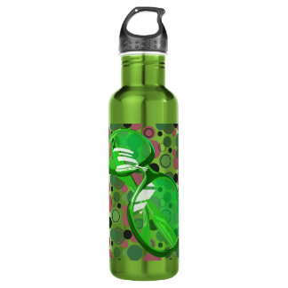 Just A Pair Of Glasses & Polka Dots - 12 24oz Water Bottle