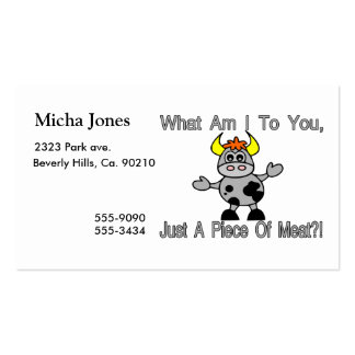 Just A Piece Of Meat Business Card