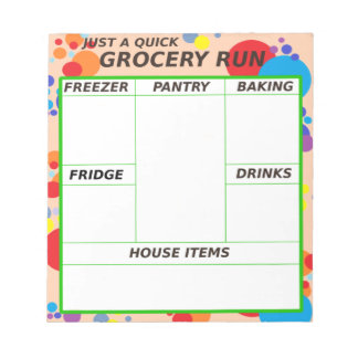 Just a Quick Grocery Run Notepad