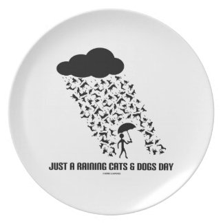 Just A Raining Cats And Dogs Day Dinner Plates