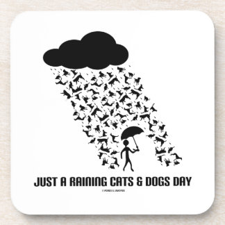Just A Raining Cats And Dogs Day Drink Coaster