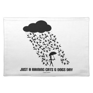 Just A Raining Cats And Dogs Day Place Mat