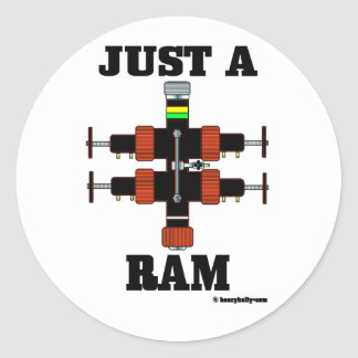 Just A Ram,Sticker,Wireline,BOP,Oil Field,Oil Classic Round Sticker