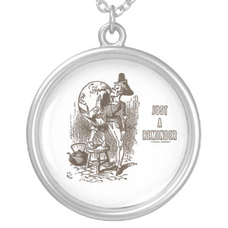 Just A Reminder Humpty Dumpty Servant's Ear Round Pendant Necklace