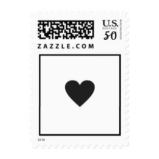 just a simple black love heart, wedding postage