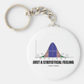 Just A Statistical Feeling (Statistical Humor) Key Chain