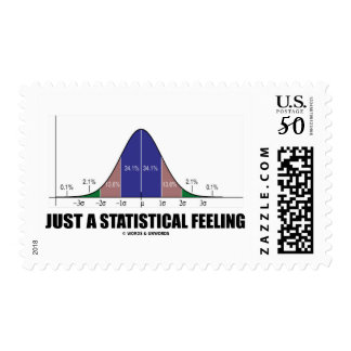 Just A Statistical Feeling (Statistical Humor) Postage