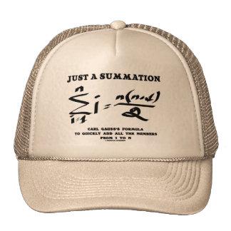 Just A Summation Math Equation Carl Gauss Formula Trucker Hat