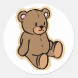 Just a Teddy Bear Classic Round Sticker