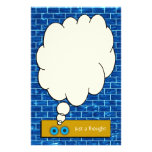 """""""Just a Thought"""" Blue Brick Stationery Personalized Stationery"""