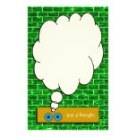 """""""Just a Thought"""" Green Brick Stationery Stationery Paper"""