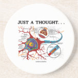 Just A Thought ... (Neuron / Synapse) Beverage Coasters