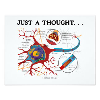 """Just A Thought... (Neuron / Synapse) 4.25"""" X 5.5"""" Invitation Card"""