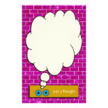 """""""Just a Thought"""" Purple Brick Stationery Stationery Paper"""