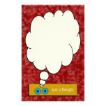 """""""Just a Thought"""" Red Bubbles Stationery Custom Stationery"""
