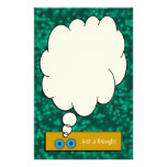 """""""Just a Thought"""" Teal Bubbles Stationery Customized Stationery"""