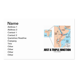 Just A Triple Junction (Plate Tectonics) Business Card