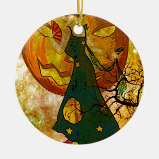 JUST A WALK WITH THE GHOULS.jpg Ceramic Ornament