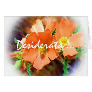 """Just a """"Weed"""" DESIDERATA Greeting Card"""