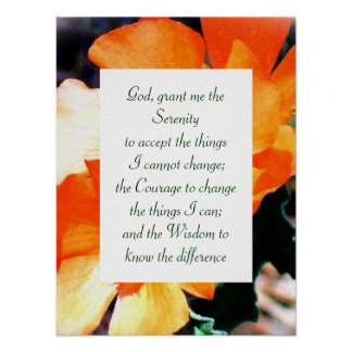 Just a Weed Serenity Prayer Poster