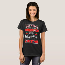 Just A Woman Who Loves Horse And Christmas Ugly T-Shirt