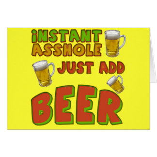 Just Add Beer T-shirts Gifts Greeting Card