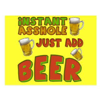 Just Add Beer T-shirts Gifts Postcard