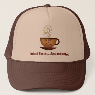 Just Add Coffee truckers hat