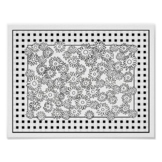 Just Add Color Pretty Floral Poster