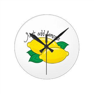 Just Add Lemons Round Clock