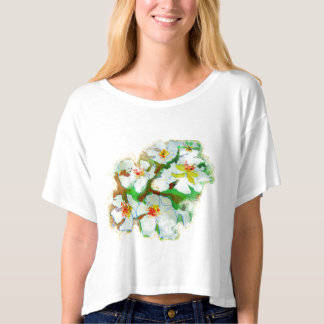 Just add more little Spring flowers watercolour, T-shirt