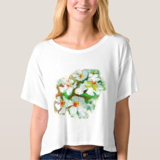 Just add more little Spring flowers watercolour, Tee Shirt
