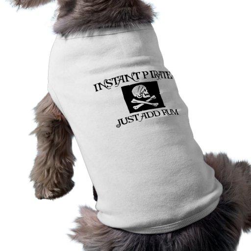 Just Add Rum Dog T Shirt