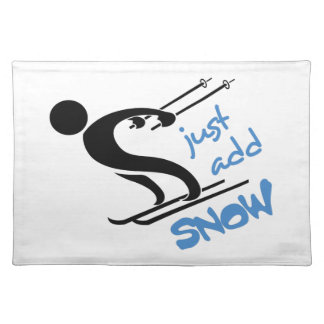 JUST ADD SNOW CLOTH PLACE MAT