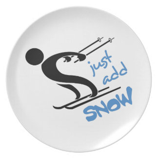 JUST ADD SNOW DINNER PLATE