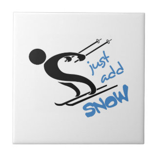 JUST ADD SNOW SMALL SQUARE TILE