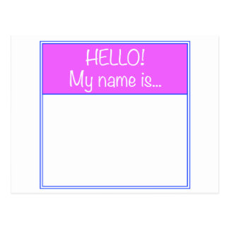 Just add YOUR NAME Postcard