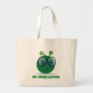 Just Another Alien Geek (Green Alien Expression) Tote Bags
