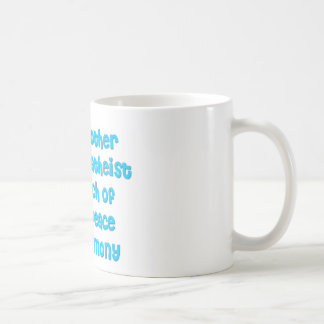 Just another atheist in search of world peace coffee mug