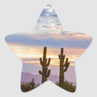 Just Another Colorful Sonoran Desert Sunrise Star Sticker
