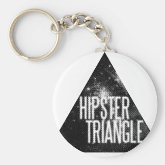 Just Another Hipster Triangle Basic Round Button Keychain