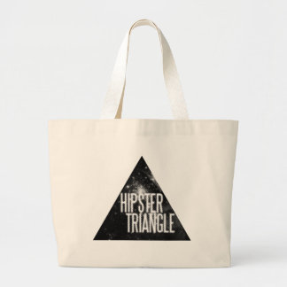 Just Another Hipster Triangle Large Tote Bag