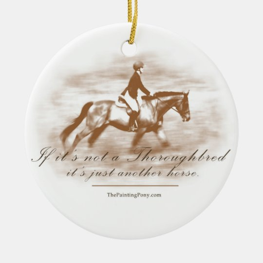 Just Another Horse Ceramic Ornament