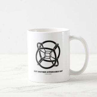 Just Another Hypercubed Day (4-D Polytope) Coffee Mug