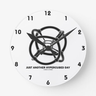 Just Another Hypercubed Day (4-D Polytope) Round Clock