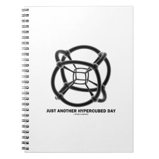 Just Another Hypercubed Day (4-D Polytope) Spiral Notebook
