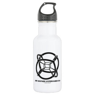 Just Another Hypercubed Day (4-D Polytope) Stainless Steel Water Bottle